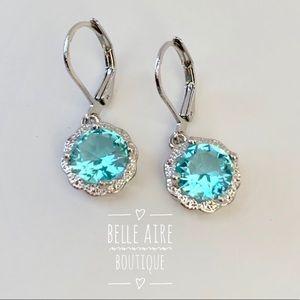 5⭐️Rated Aquamarine Drop Earrings - 925 Silver